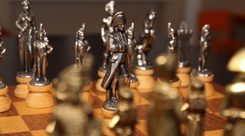 Napoleon auf Schachbrett
